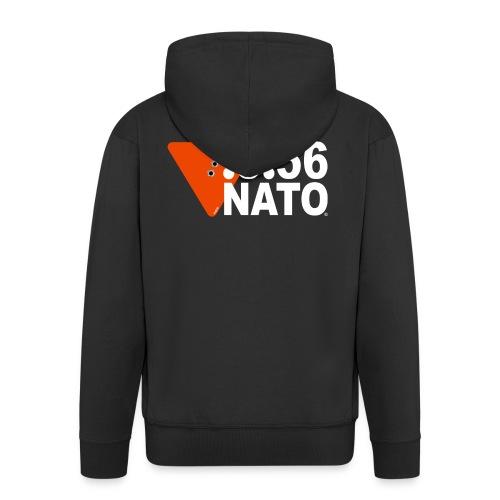 .5.56 NATO BLANC - Veste à capuche Premium Homme
