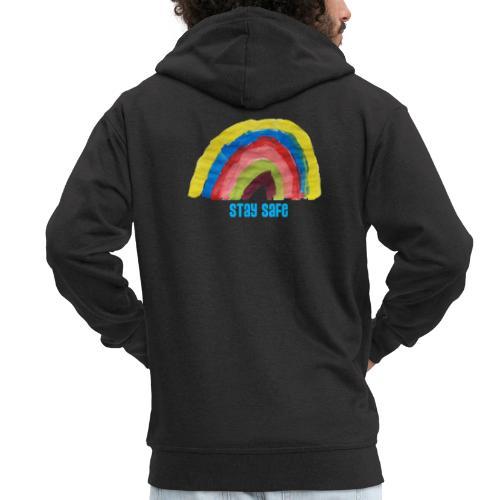 Stay Safe Rainbow Tshirt - Men's Premium Hooded Jacket