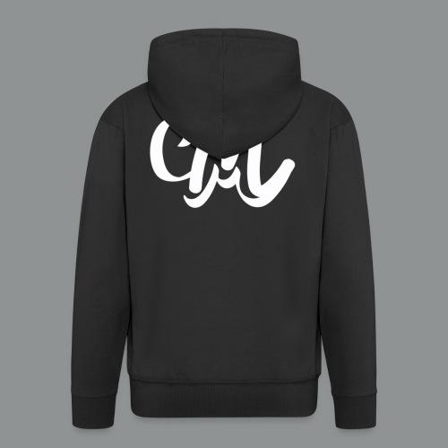 Mannen shirt (voorkant) - Mannenjack Premium met capuchon