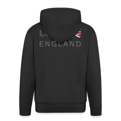 LON ENGLAND BF dark-lettered 400 dpi - Men's Premium Hooded Jacket