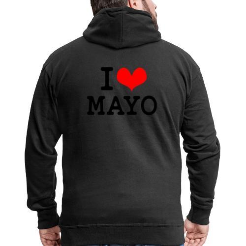 I Love Mayo - Men's Premium Hooded Jacket