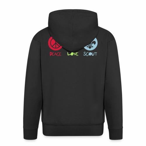 Peace Love Scout - Veste à capuche Premium Homme
