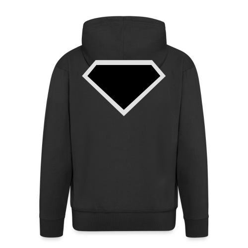 Diamond Black - Two colors customizable - Mannenjack Premium met capuchon