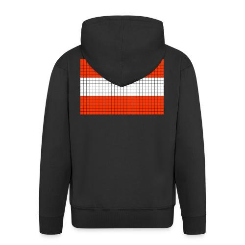 austrian flag - Felpa con zip Premium da uomo