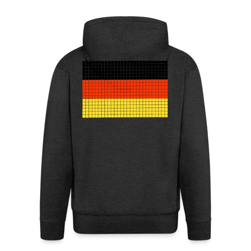 german flag.png - Felpa con zip Premium da uomo