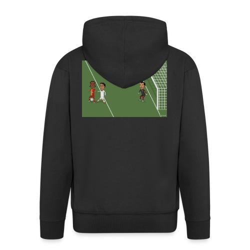 Backheel goal BG - Men's Premium Hooded Jacket