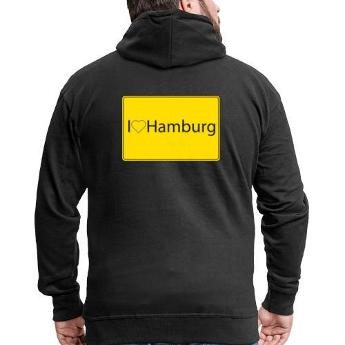 I love hamburg - Männer Premium Kapuzenjacke
