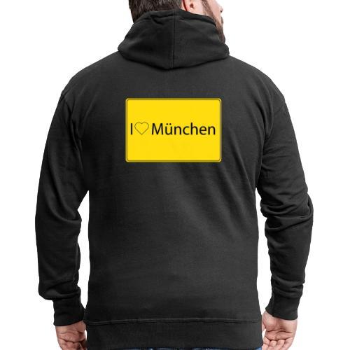 I love München - Männer Premium Kapuzenjacke