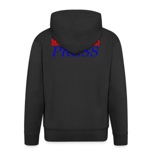 int_press-png - Felpa con zip Premium da uomo