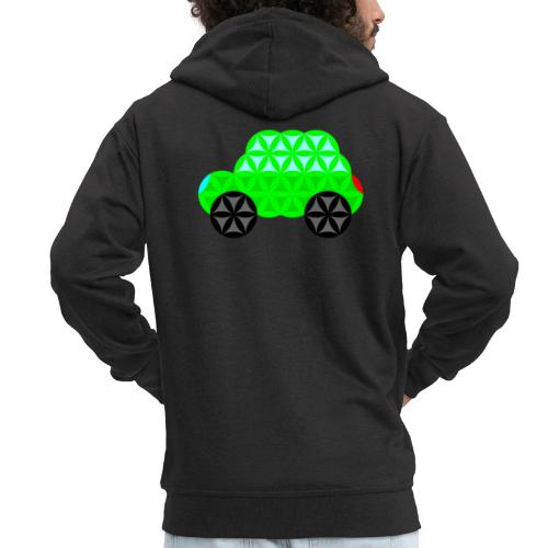 The Car Of Life - M01, Sacred Shapes, Green/R01. - Men's Premium Hooded Jacket