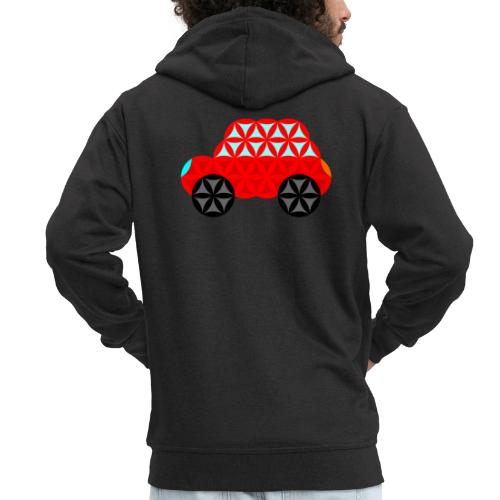 The Car Of Life - M01, Sacred Shapes, Red/R01. - Men's Premium Hooded Jacket