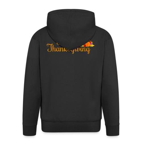 Happy Thanksgiving Words - Men's Premium Hooded Jacket