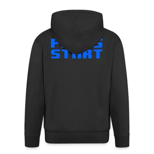 Press Start - Felpa con zip Premium da uomo