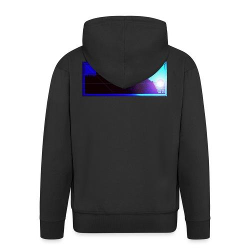 Silhouette of Edinburgh Castle - Men's Premium Hooded Jacket