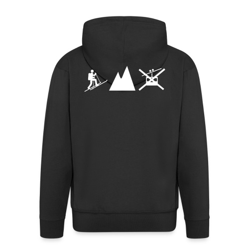 Skitouren Gipfelstürmer - Männer Premium Kapuzenjacke