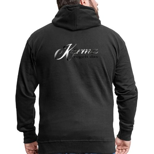 Karma regelt das silber - Männer Premium Kapuzenjacke