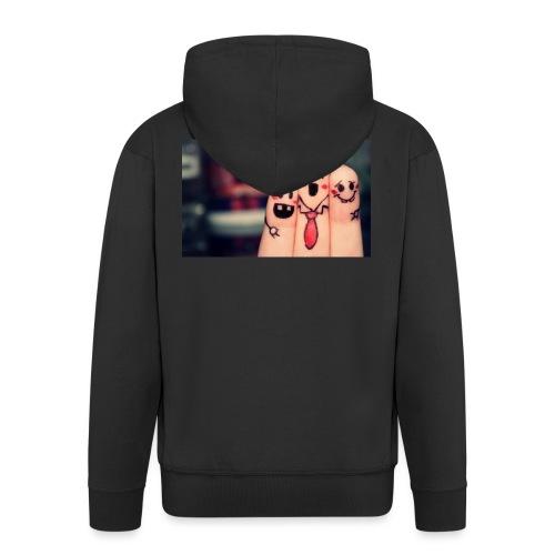 słodkie palce - Rozpinana bluza męska z kapturem Premium