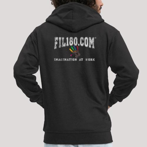 FIL180 Hoody WHITE - Men's Premium Hooded Jacket