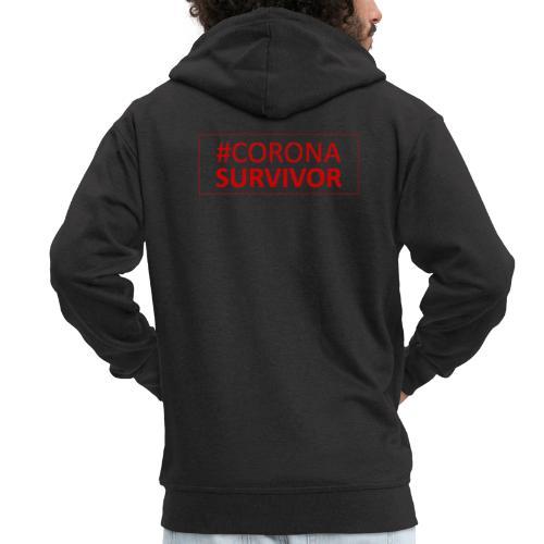Corona Virus Survivor - Men's Premium Hooded Jacket