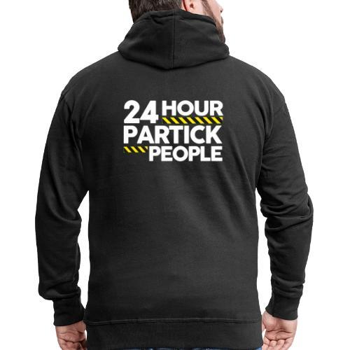 24 Hour Partick People - Men's Premium Hooded Jacket