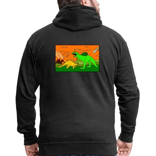 Schneckosaurier von dodocomics - Männer Premium Kapuzenjacke