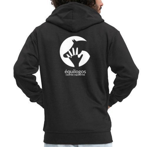 Logo blanc équilogos - Veste à capuche Premium Homme