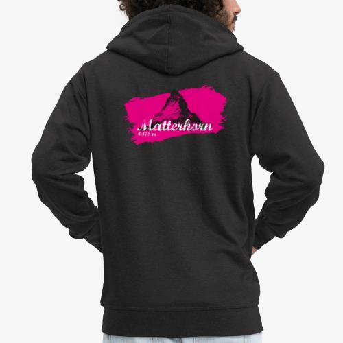 Matterhorn - Matterhorn in pink - Men's Premium Hooded Jacket