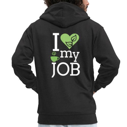 I love my job II - Miesten premium vetoketjullinen huppari