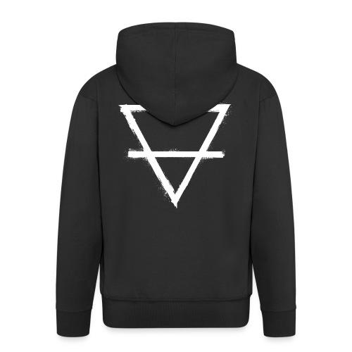 symbol earth 1 - Men's Premium Hooded Jacket