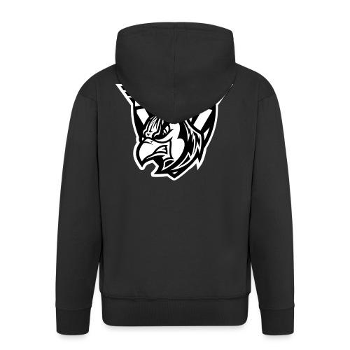 BLUEJAYS Logo schwarz / weiß - Männer Premium Kapuzenjacke