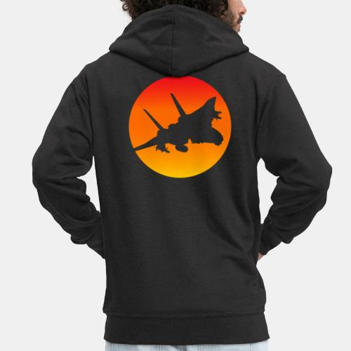 F-14 Tomcat jet fighter - Men's Premium Hooded Jacket