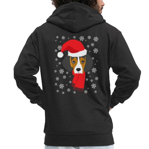 Perrito beagle vestido de Papá Noel - Chaqueta con capucha premium hombre