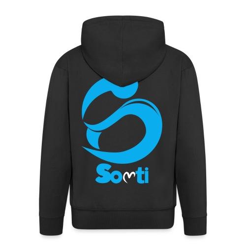 SoltiSquad Blue Logo for Solti (Men) - Men's Premium Hooded Jacket
