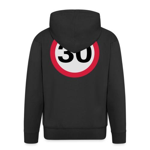 30mph Speed Limit Vector - choose design colours - Men's Premium Hooded Jacket
