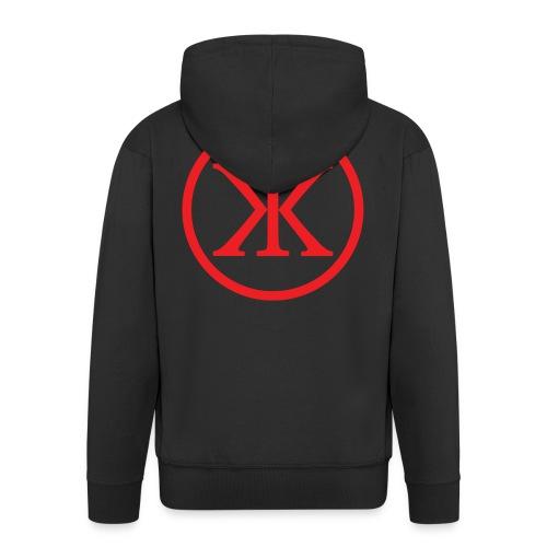 KK KingKnut V-Shirt Logo in Black/Red - Männer Premium Kapuzenjacke