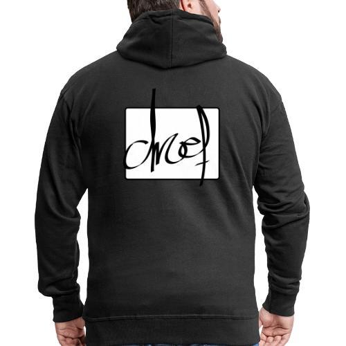 Droef.Gent logo zwart - Mannenjack Premium met capuchon