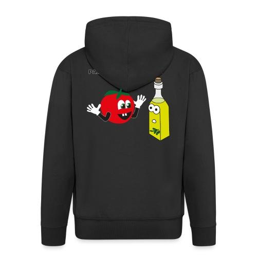 Tomate und Olivenöl - Männer Premium Kapuzenjacke