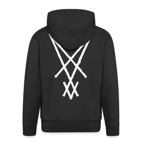 symbol lucifer sigil 1 - Men's Premium Hooded Jacket