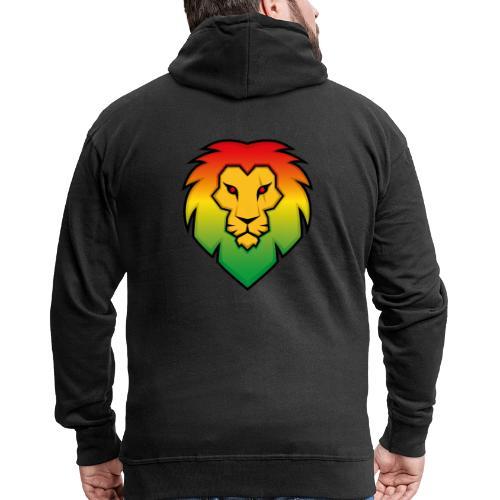 Ragga Lion - Men's Premium Hooded Jacket