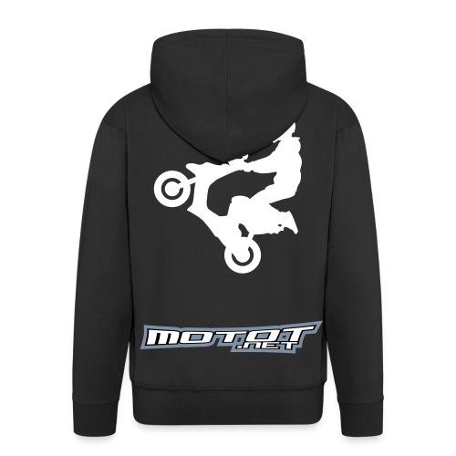 Scooter wheelie - Miesten premium vetoketjullinen huppari