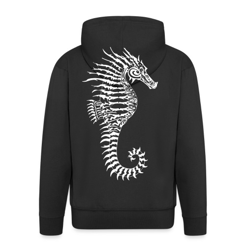 Alien Seahorse Invasion - Men's Premium Hooded Jacket