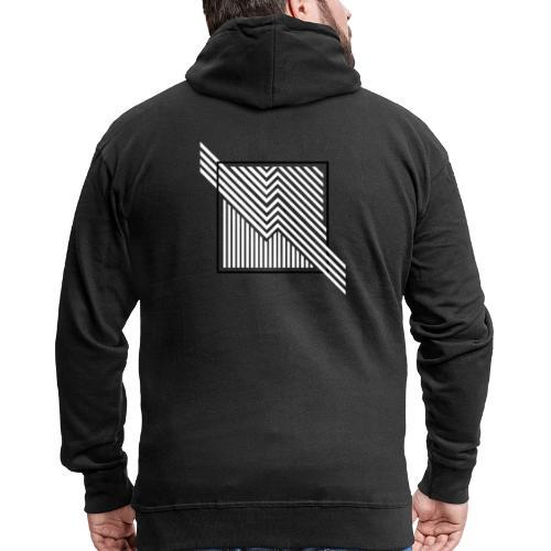 Lines in the dark - Men's Premium Hooded Jacket