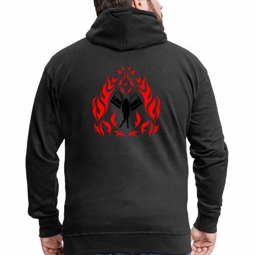 Engel / Flammen - Männer Premium Kapuzenjacke
