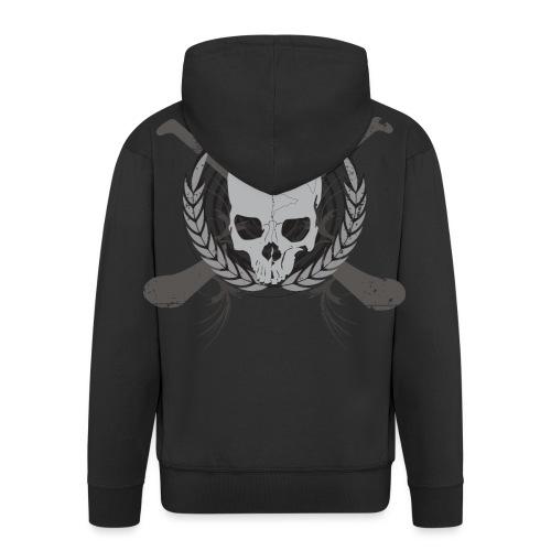 skullgreyblack - Men's Premium Hooded Jacket