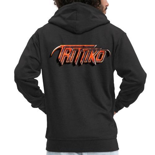 Trittiko Logo Rot 3D - Männer Premium Kapuzenjacke