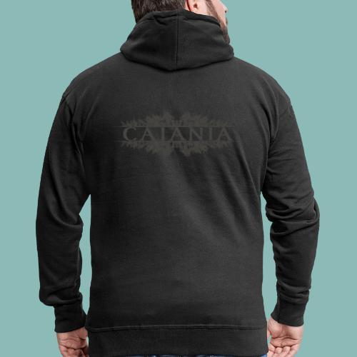 Caiania-logo harmaa - Miesten premium vetoketjullinen huppari