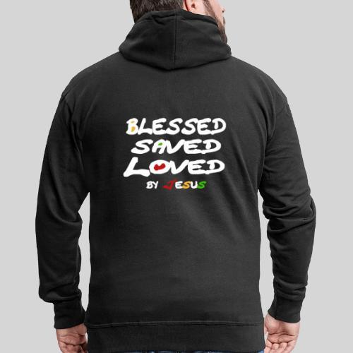 Blessed Saved Loved by Jesus - Männer Premium Kapuzenjacke