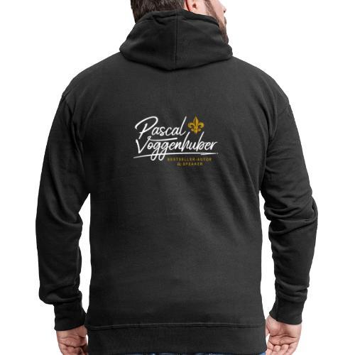 Pascal Voggenhuber Autor Logo weiss - Männer Premium Kapuzenjacke