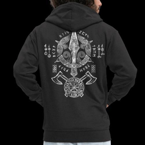 Viking Symbols - Männer Premium Kapuzenjacke