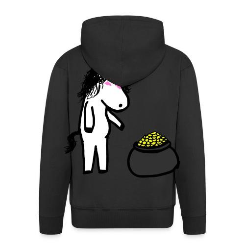 Oro unicorno - Felpa con zip Premium da uomo
